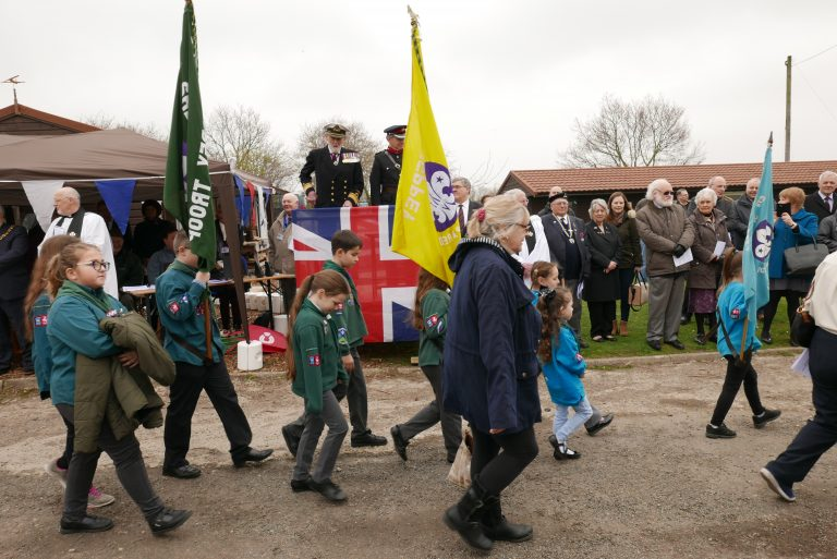 Scouts Parading